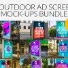 Outdoor Ad Screen MockUps Bundle 4655707