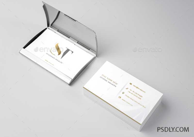 Realistic Business Card Mockup 1