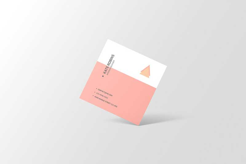 Square Business Card Mockup 4566160 Free
