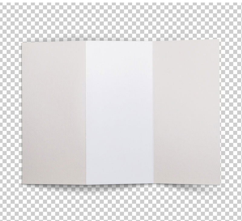 Trifold Brochure Top View Mockup 1