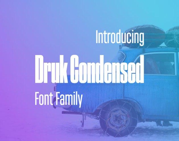 Druk Condensed Font Family 2524150