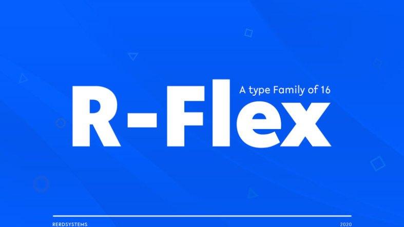 R Flex Sans Serif Font