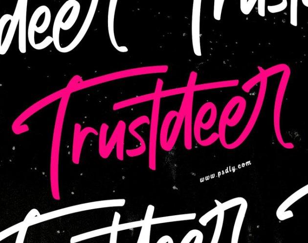 Trustdeer Handbrush Font 4774348