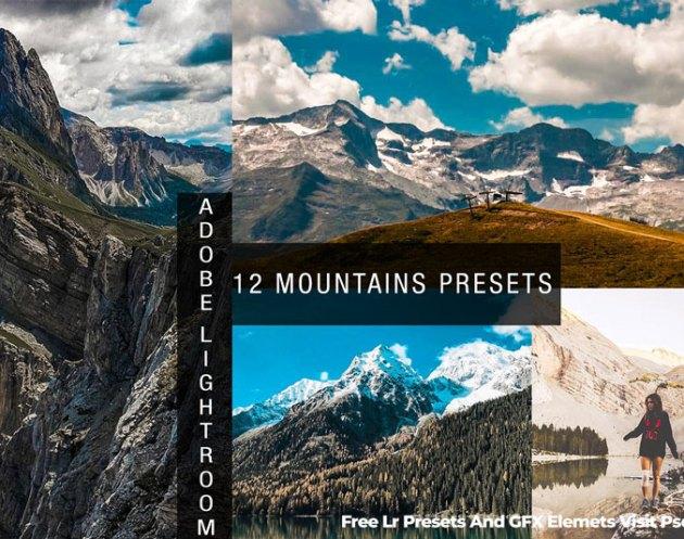12 Mountains Lightroom Presets 4830949