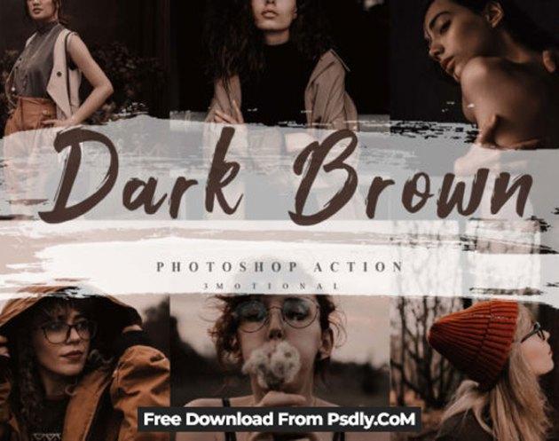 5 Dark Brown Photoshop Actions252C ACR LUT