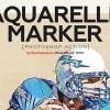 Aquarelle Marker Photoshop Action 25947809