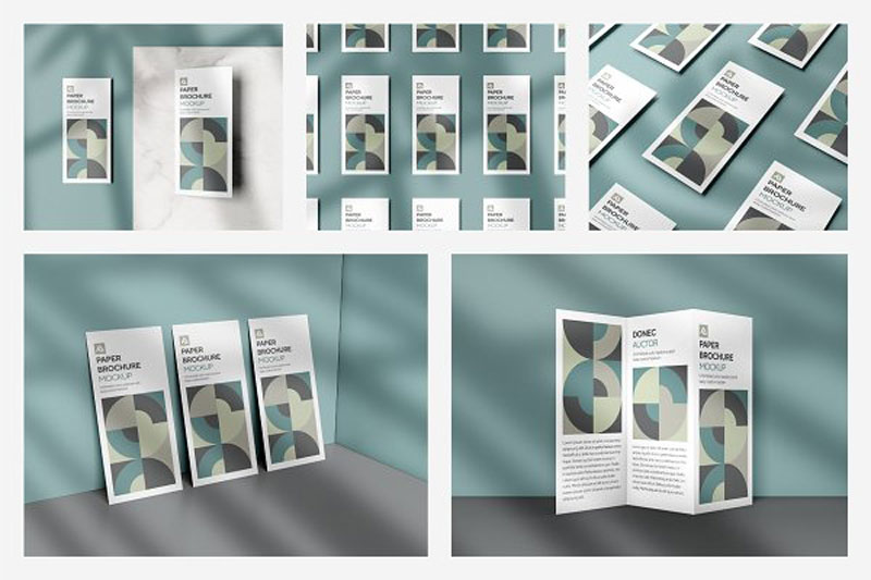 Corporate Trifold Brochure Mockups 4983555