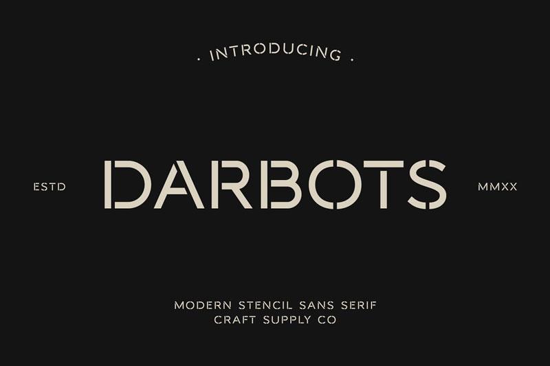 Darbots - Modern Stencil Sans Serif 4667773