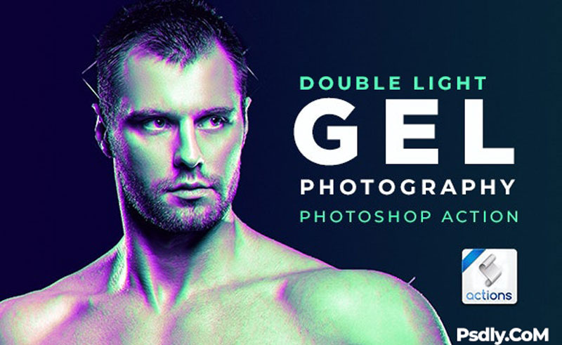 Dual Lighting Gel Photoshop Action 26034928