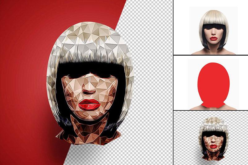 Low Poly Photoshop Action CS6+ 4563925