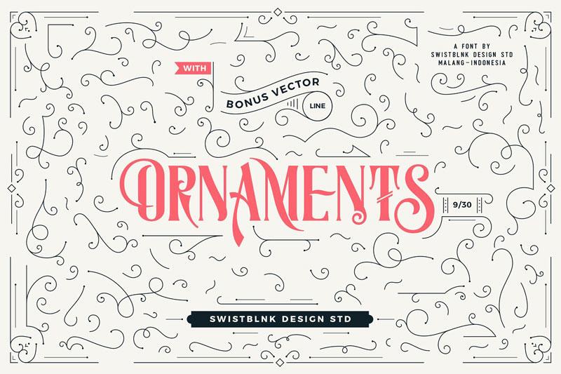 Moalang Pro + Ornament Font