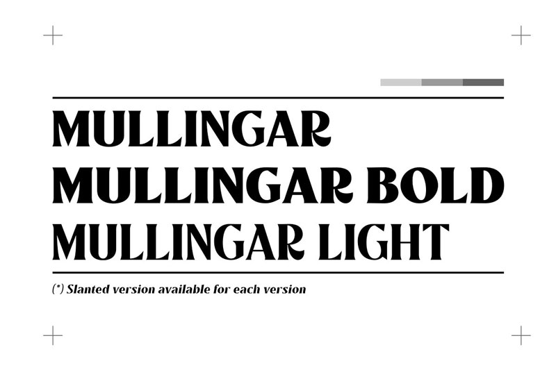 Mullingar   Display Typeface 4889352