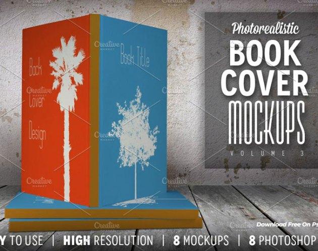 Photorealistic Book Cover Mockups 03 139359