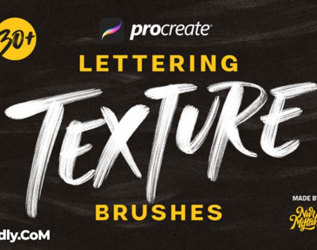 Procreate Lettering Texture Brushes 4200259
