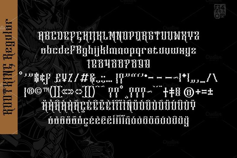 ROOTKING Stunning Blackletter Fonts 4942092