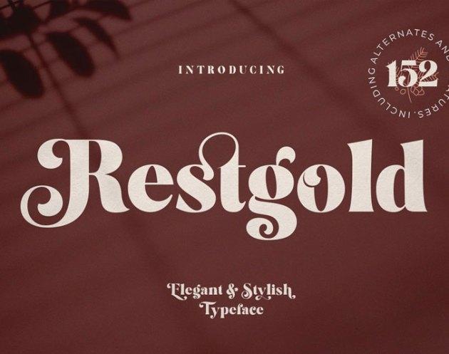 Restgold Serif Font