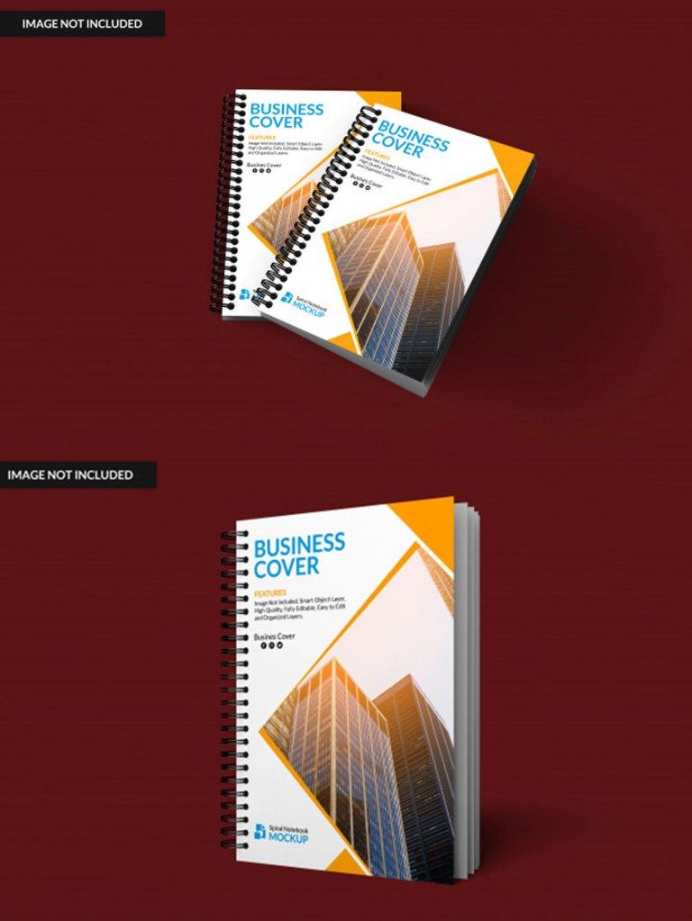 Realistic Notebook PSD Mockup 1
