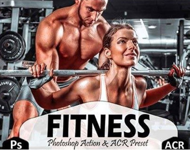 10 Fitness Photoshop Actions, ACR Preset 4444156