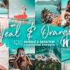 10 Teal & Orange Mobile Presets 5142981