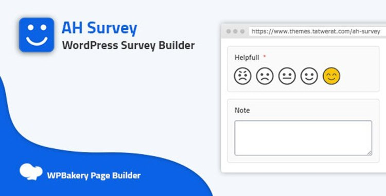 AH Survey v1.0.0 - Survey Builder With Multiple Questions Types - 27646691
