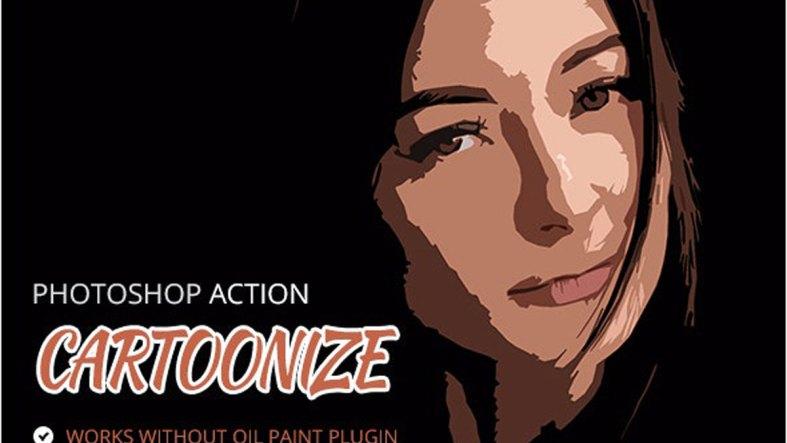 Cartoonize Photoshop Action 26607771