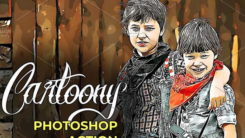 Cartoony Photoshop Action 4723737