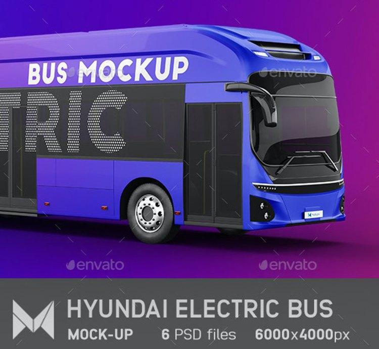 Hyundai Electric City Bus Mockup 27476773