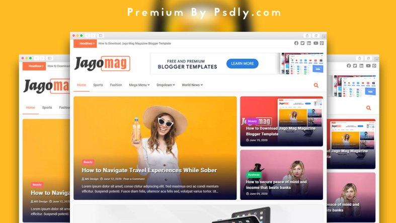 JagoMag Blogger Template Premium Free