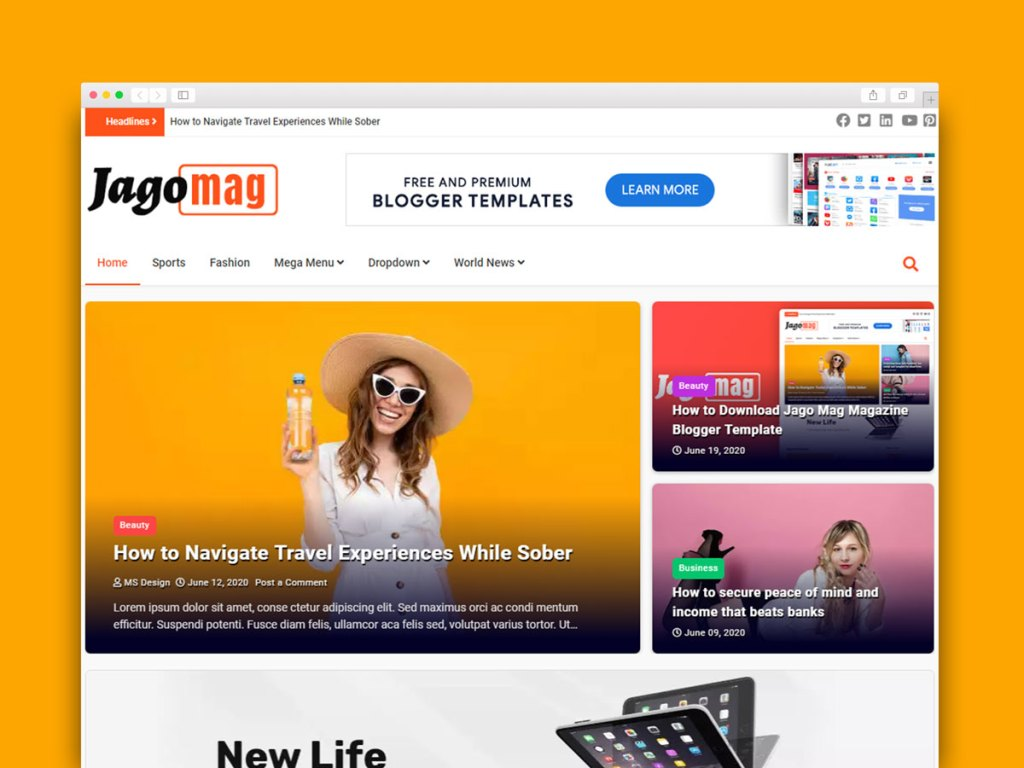 Material Design Blogger Template Free Download