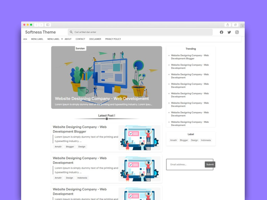 Material Design Blogger Template Free Now