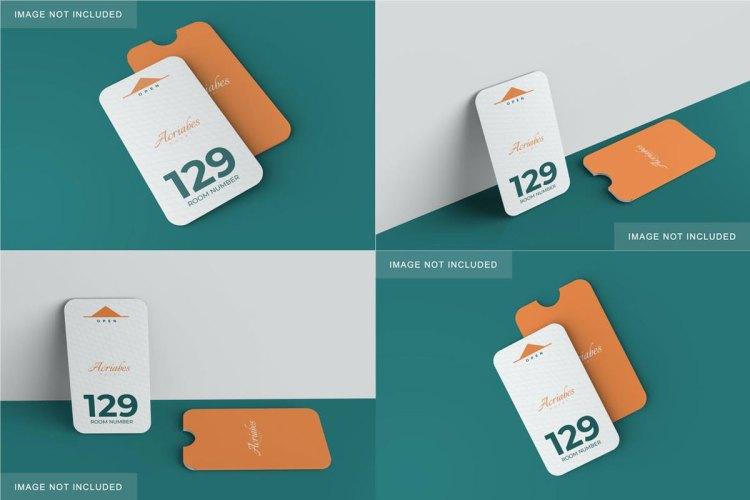 Minimalist Card & Holder Mockup