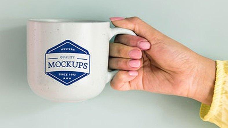 Mockup design space on ceramics cup - 296035