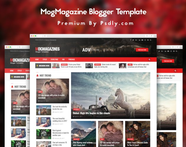 MogMagazine Blogger Template Free Download