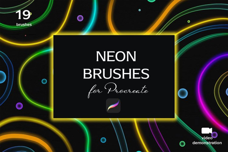Neon brush set for Procreate 5167471
