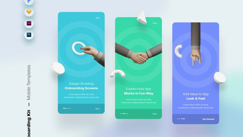 Onboarding Mobile App UI Screens & Templates