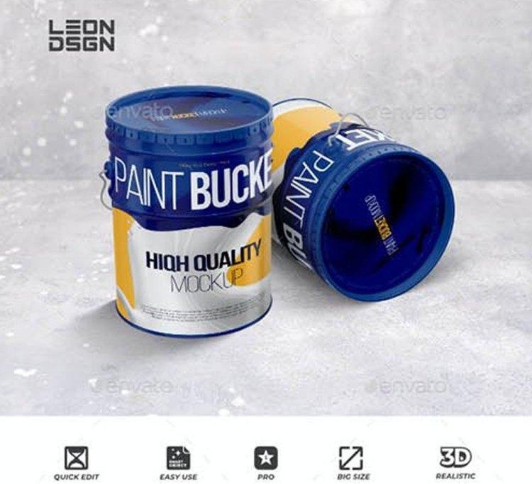 Paint Bucket Tin Mockup 27486917