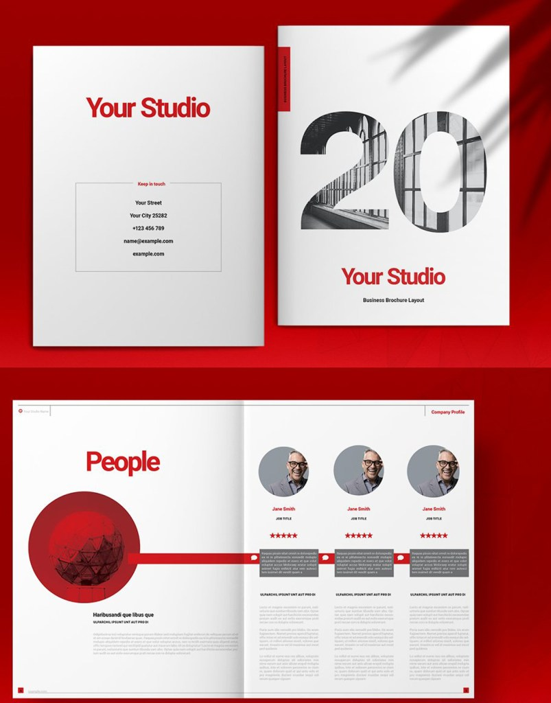 Red Business Brochure Layout 5150608 1