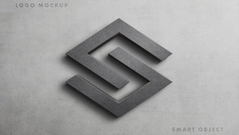 Stone Logo Mockup Scene