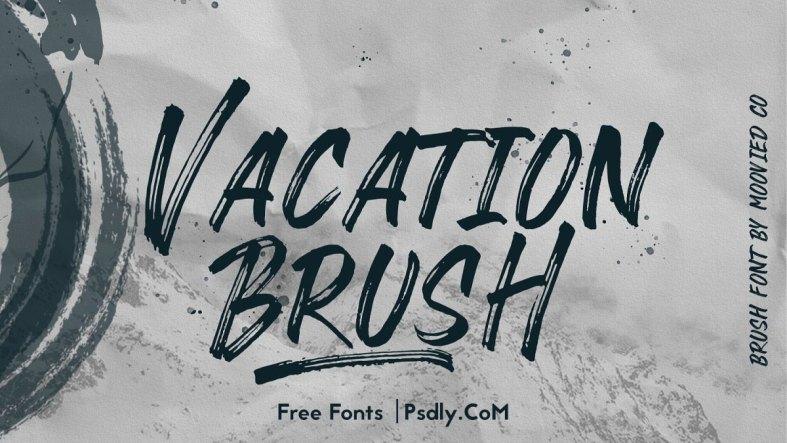 Vacation Brush Stunning Display Fonts