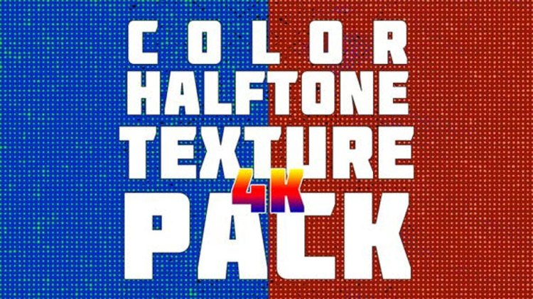 Videohive Color Halftone Texture Pack 4K 23735551