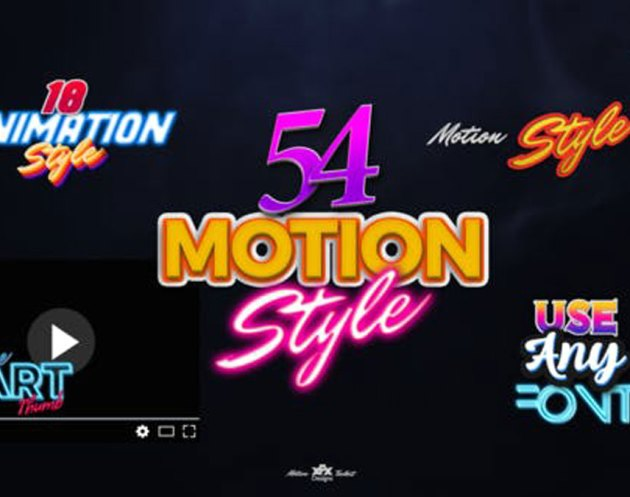 Videohive Motion Styles Toolkit Text Effects & Animations For Premiere Pro Mogrt - 27115729