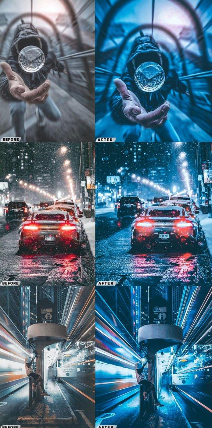 Blue Cinematic City Photoshop Actions 26544127