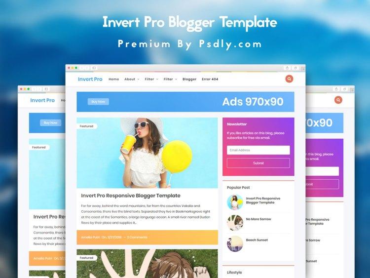 Invert Pro Responsive Blogger Template Premium Free