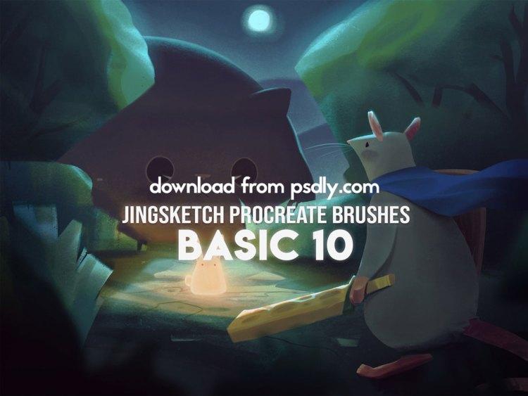 Jingsketch Procreate Brushes: Basic 10