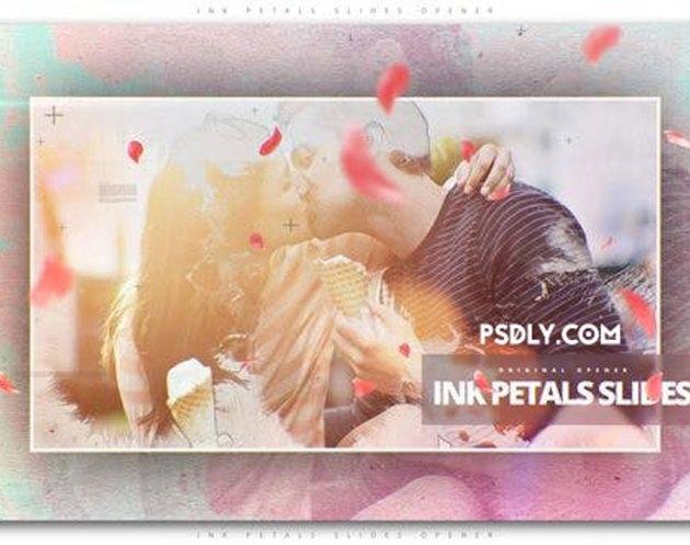 Videohive - Ink Petals Slides Opener - 22173468