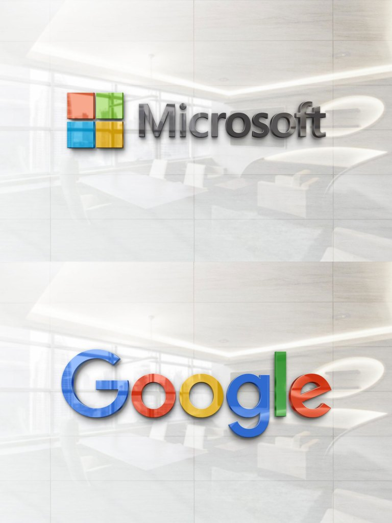 Free Realistic Glossy Wall Logo Mockup Download