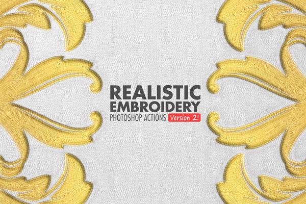 Realistic Embroidery 2 – Photoshop Actions TTM5KU