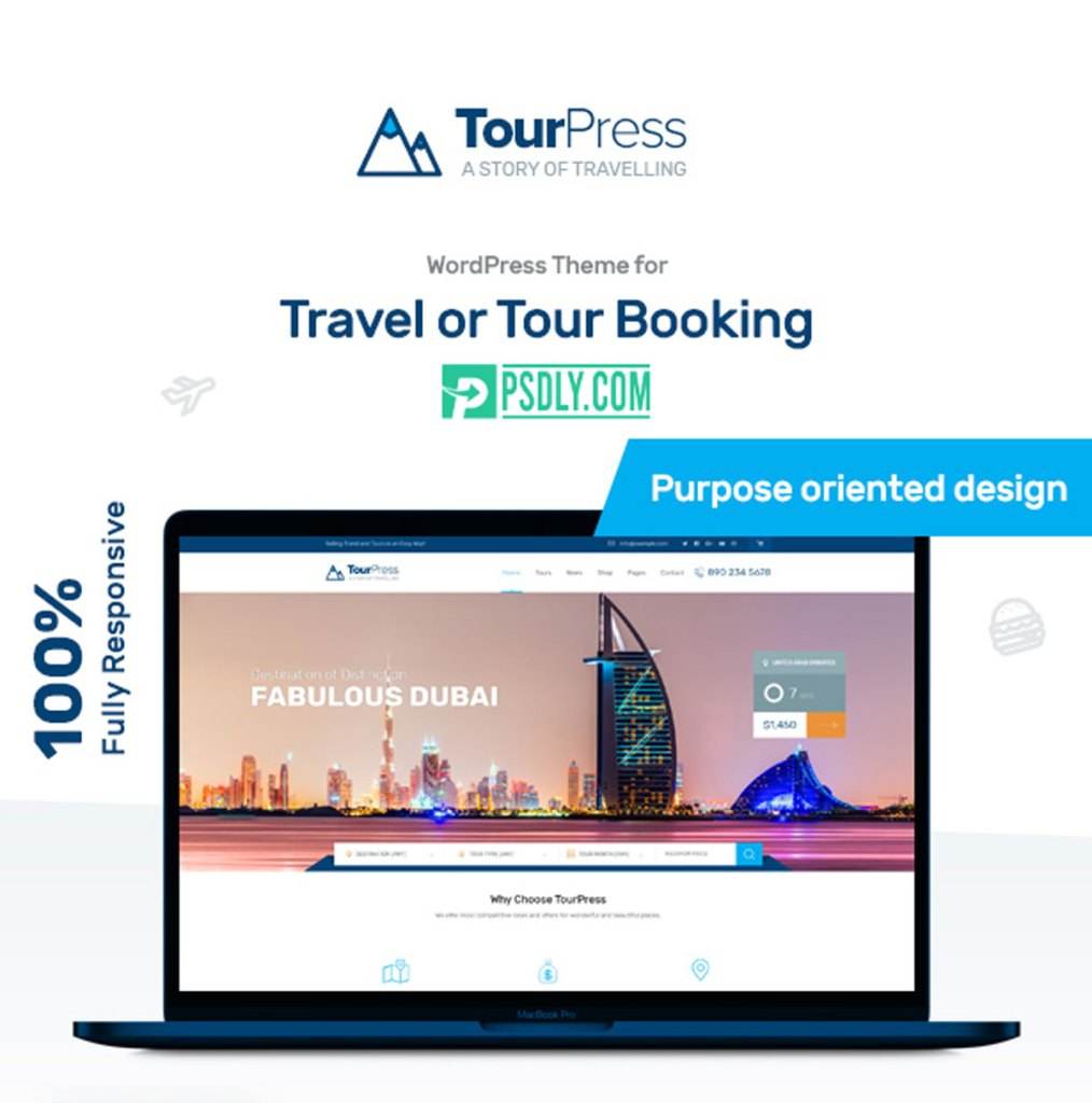 ThemeForest TourPress v1.1.7 Travel Booking WordPress Theme 22395330