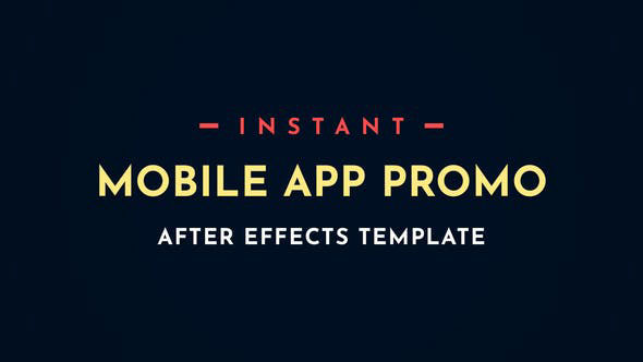 Videohive Instant App Promo Mobile After-Effects Video Template 28497451