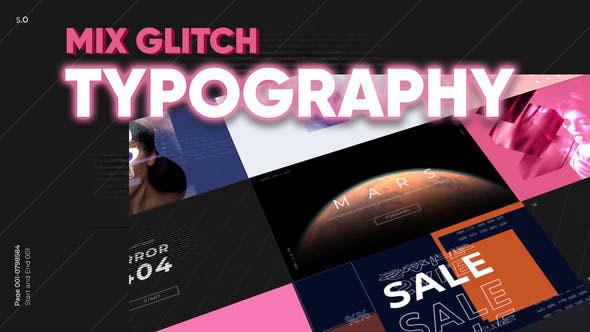 Videohive Mix Glitch Typography 28618716